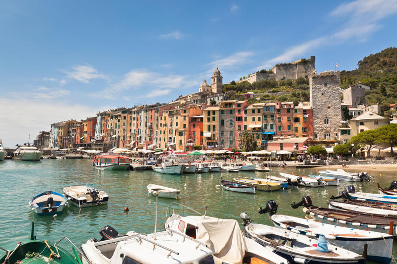 Portovenere, vue de l'Italie photo stock