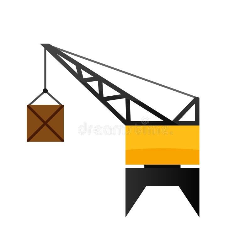 Portowa dźwigowa ikona royalty ilustracja