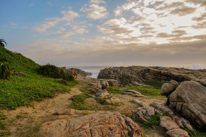 Portowa Shepstone plaża, Natal, Południowa Afryka obraz royalty free