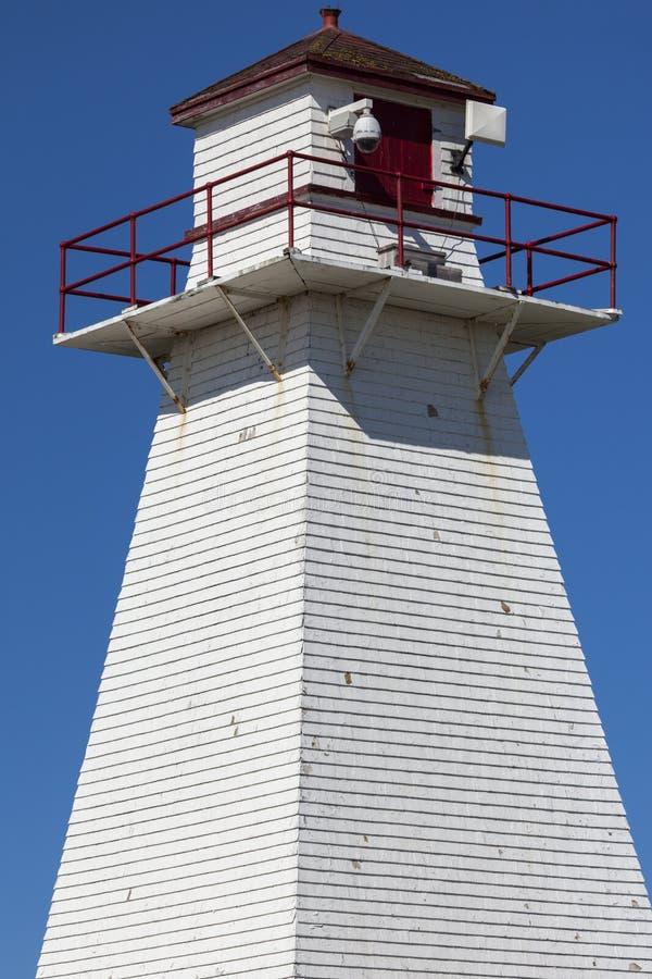 Portowego Borden pasma Tylni latarnia morska na książe Edward wyspie fotografia royalty free