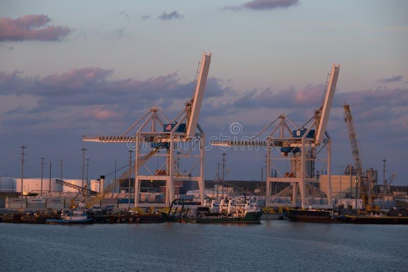 Portowi Canaveral doki, Floryda, usa zdjęcie royalty free