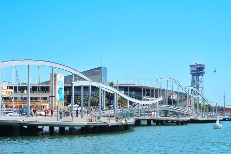 portowy Barcelona vell de Mar Rambla Spain zdjęcia royalty free