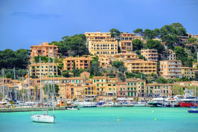 Portowy De Soller dziejowy Stary miasteczko, Mallorca, Hiszpania zdjęcie royalty free