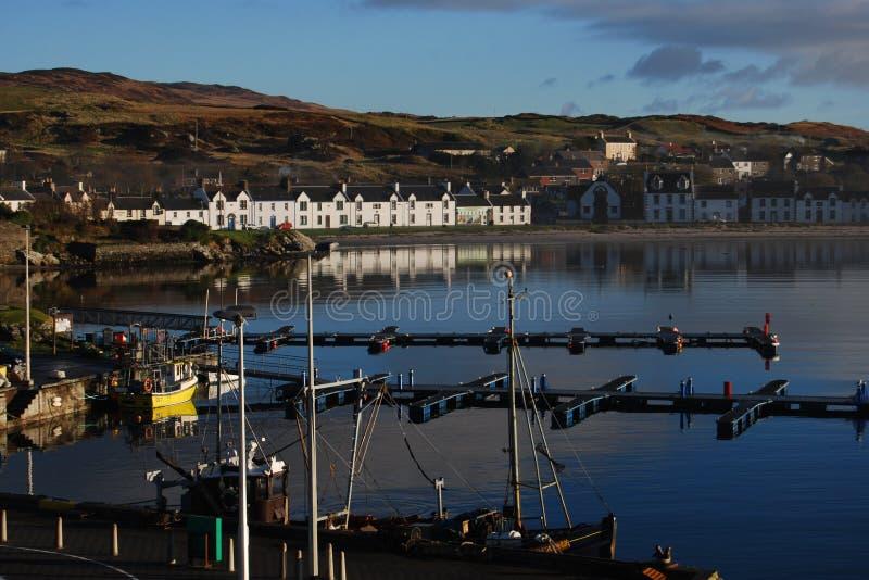 Portowy Ellen schronienie, Islay, Szkocja zdjęcia royalty free