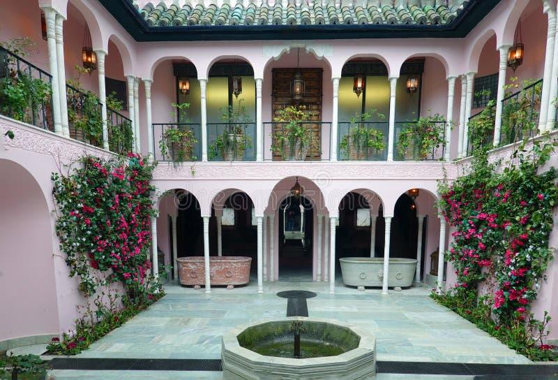 Portowy Lympne dworu dom, Marokański podwórze obraz royalty free