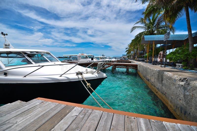 portowy Maldives morze zdjęcie stock