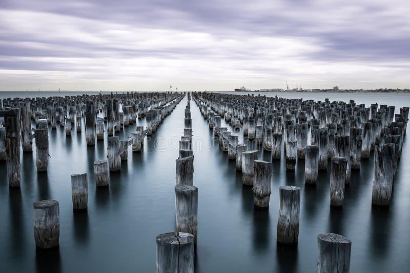 Portowy Melbourne fotografia stock
