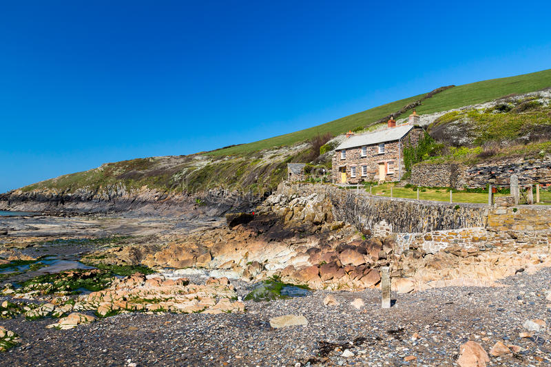 Portowy Quin Cornwall Anglia zdjęcia royalty free