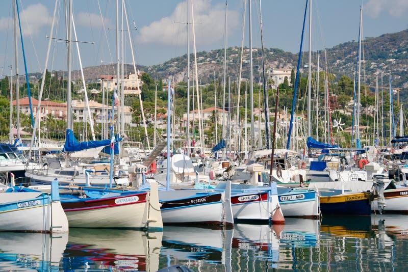 Portowy St Jean Cap Ferrat Francja fotografia royalty free