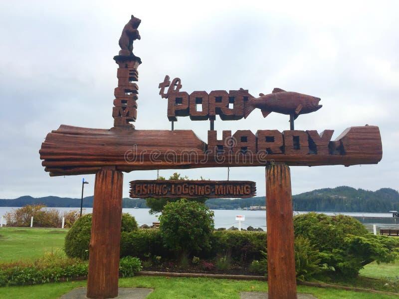 Portowy Zimnotrwały połów, wyróbka, Górniczy miasteczko znak obraz royalty free