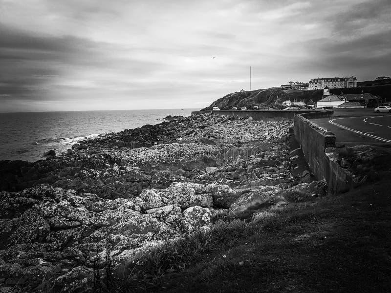 Portpatrick. Scotland break away gey grey gray royalty free stock photo