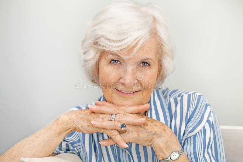 Porträt senior IV della donna fotografia stock libera da diritti
