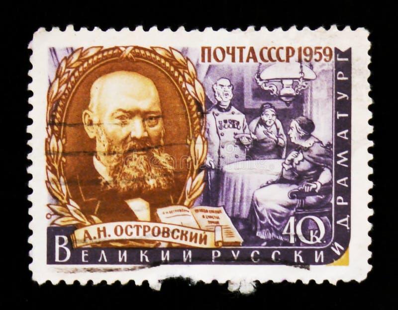 Porträt Alexander Ostrovskys 1823-1886, russischer Dramatist, Reihe, circa 1959 lizenzfreies stockbild
