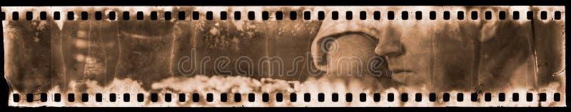 Porträt auf analogem Film stockfotografie