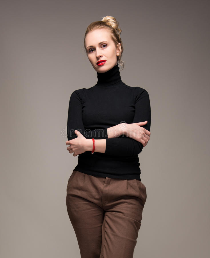 Porträt der eleganten Frau stockbilder