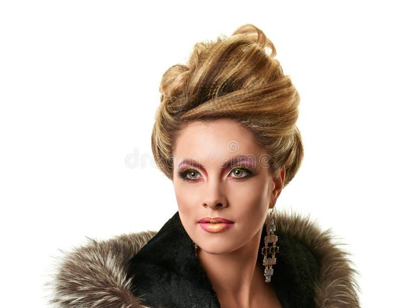 Porträt der eleganten Modefrau stockfotos