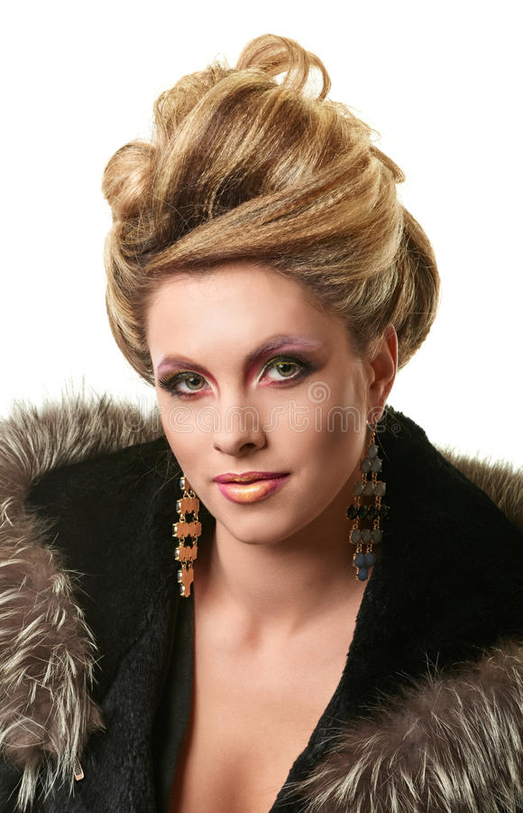 Porträt der eleganten Modefrau stockfotografie