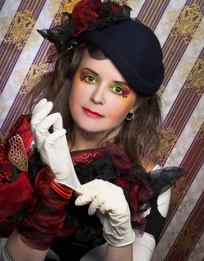 Porträt der Frau. lizenzfreies stockfoto