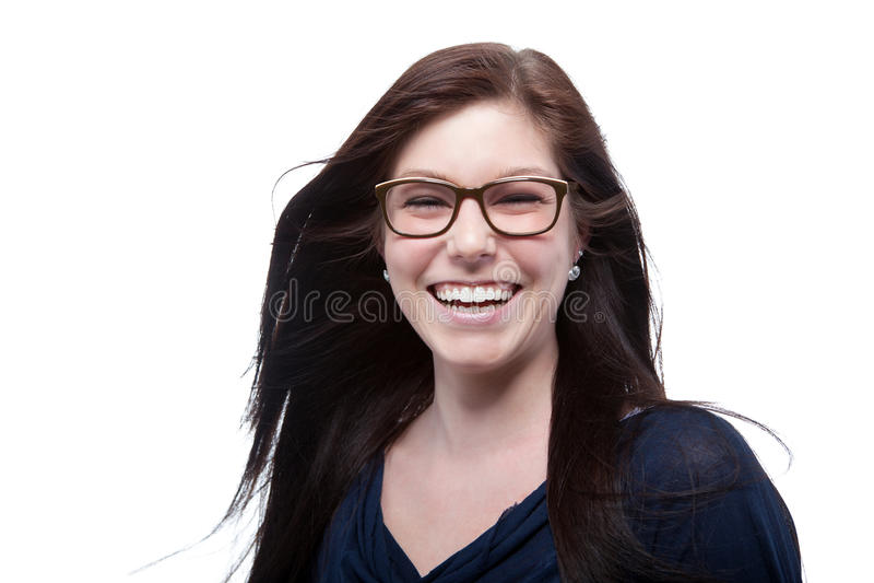 Porträt der glücklichen Frau lizenzfreie stockfotografie