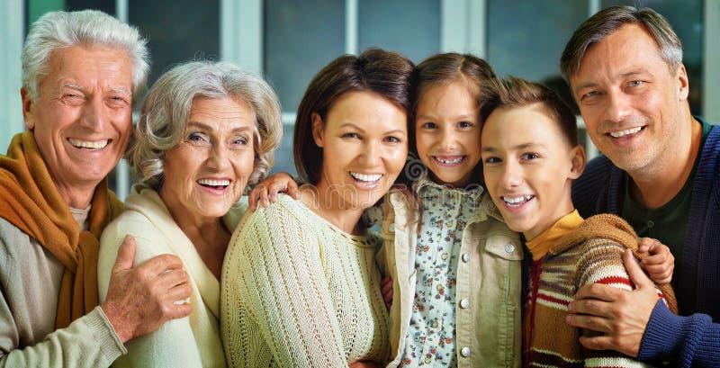 Porträt der großen Familie lizenzfreies stockfoto