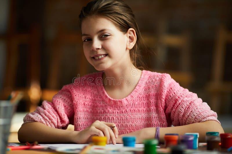 Porträt der Jugendliche-Zeichnung stockfotografie