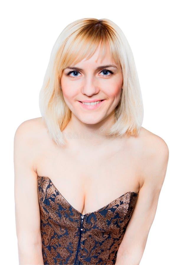 Schöne Frau mit perfekter Haut lizenzfreies stockbild