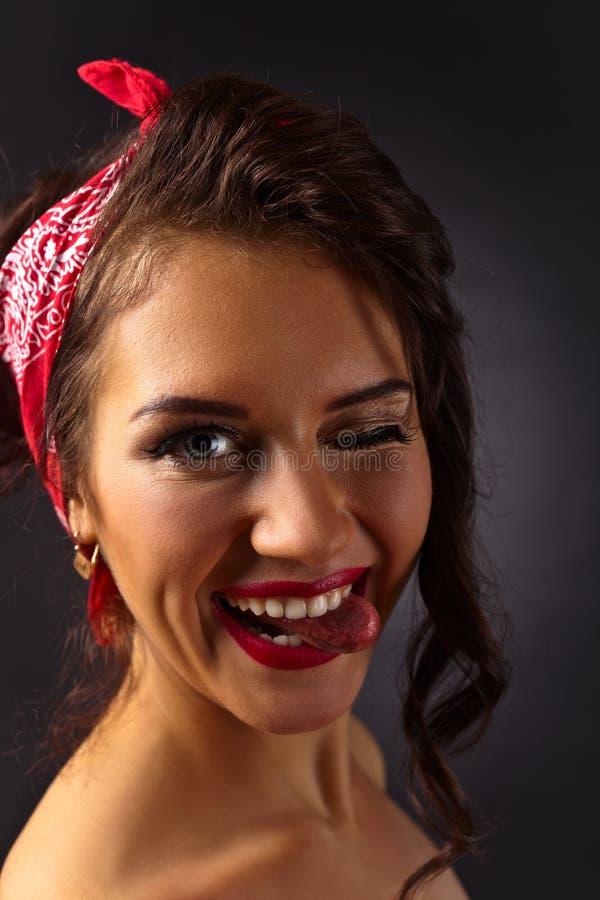 Porträt der jungen Schönheit stockfotografie