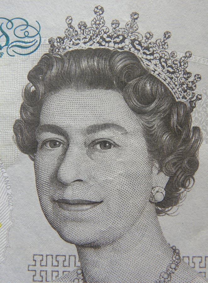 Porträt der Königin Elizabeth II stockfoto