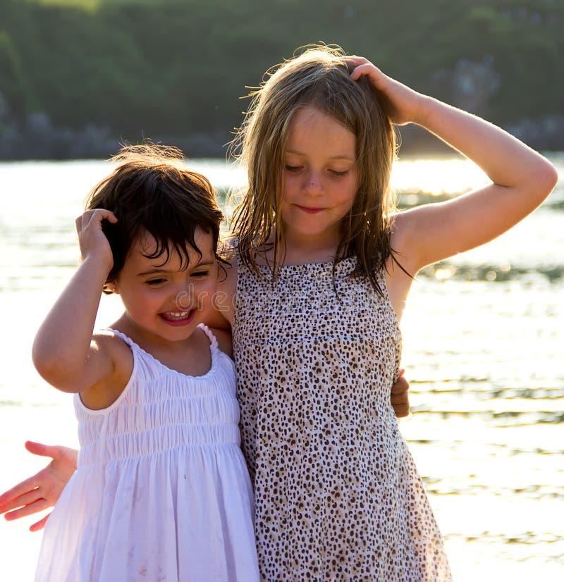 Porträt der kleinen Mädchen stockfoto