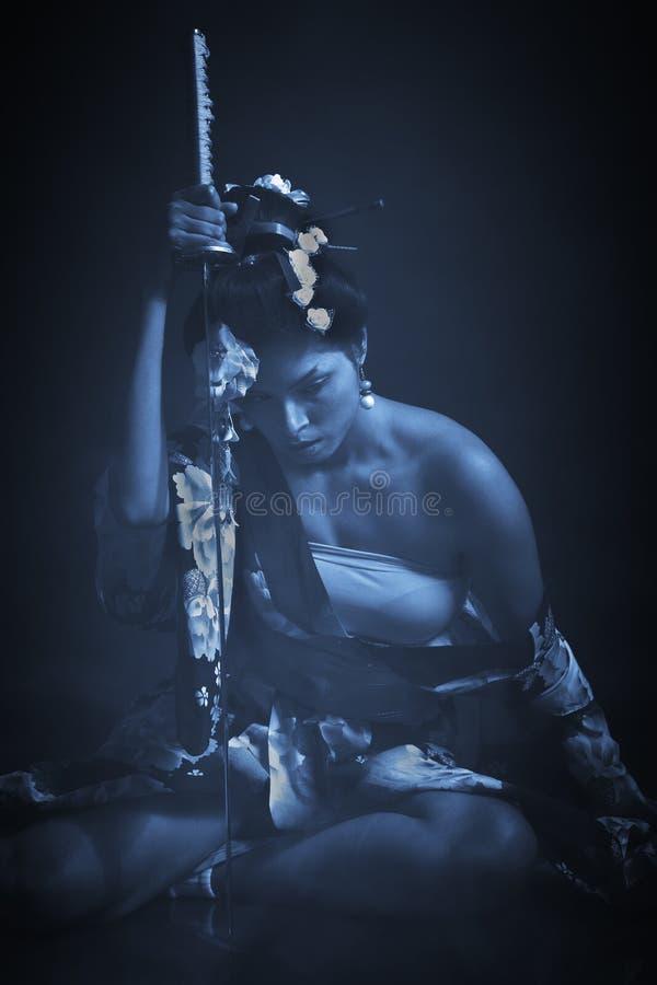Porträt der Kriegersfrau stockfotografie