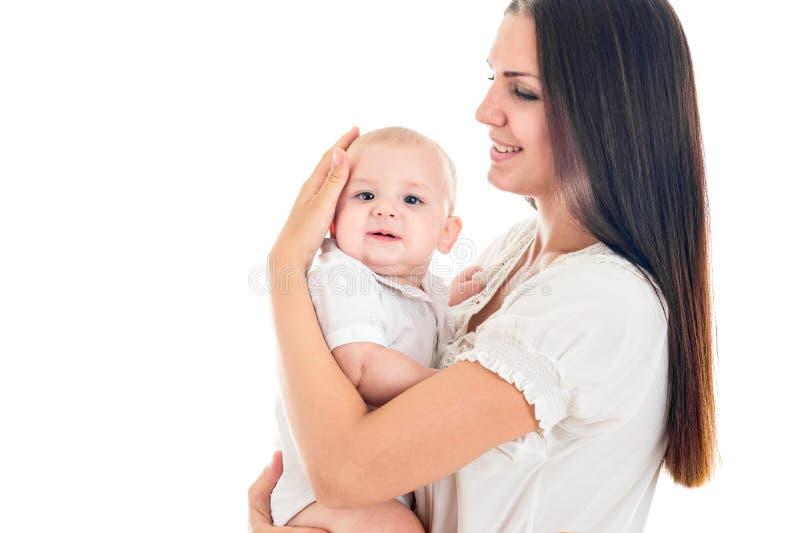 Porträt der Mutter und ihres neugeborenen Babys lizenzfreie stockfotografie