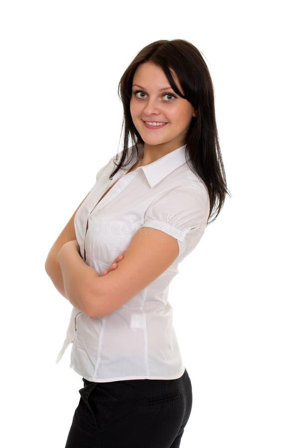 Porträt der schönen jungen Frau. Schönheitsporträt herrlichen g lizenzfreie stockfotografie