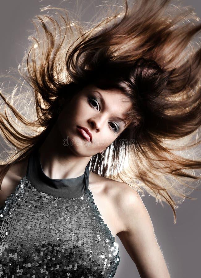 Porträt der schöner und Mode-Modell-Frau lizenzfreie stockbilder
