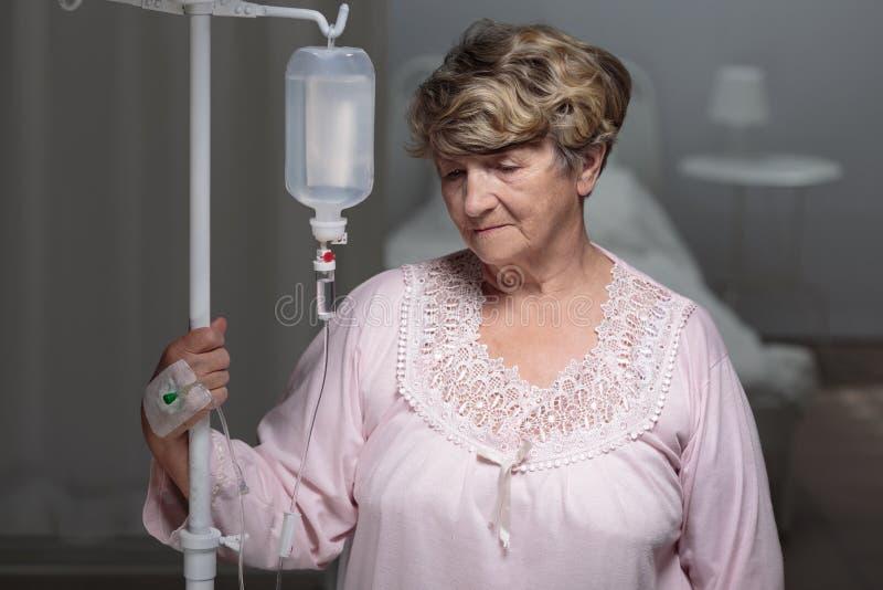 Porträt des älteren Patienten lizenzfreies stockbild
