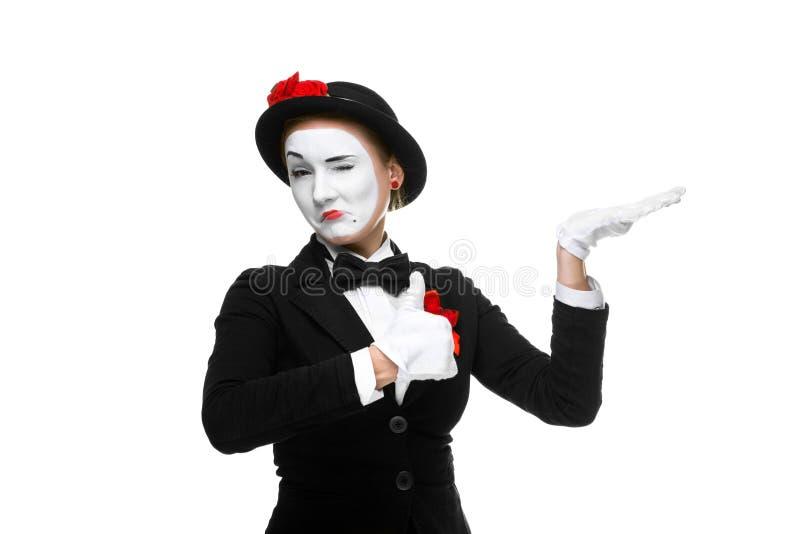 Porträt des anerkennend Pantomimen lizenzfreies stockbild