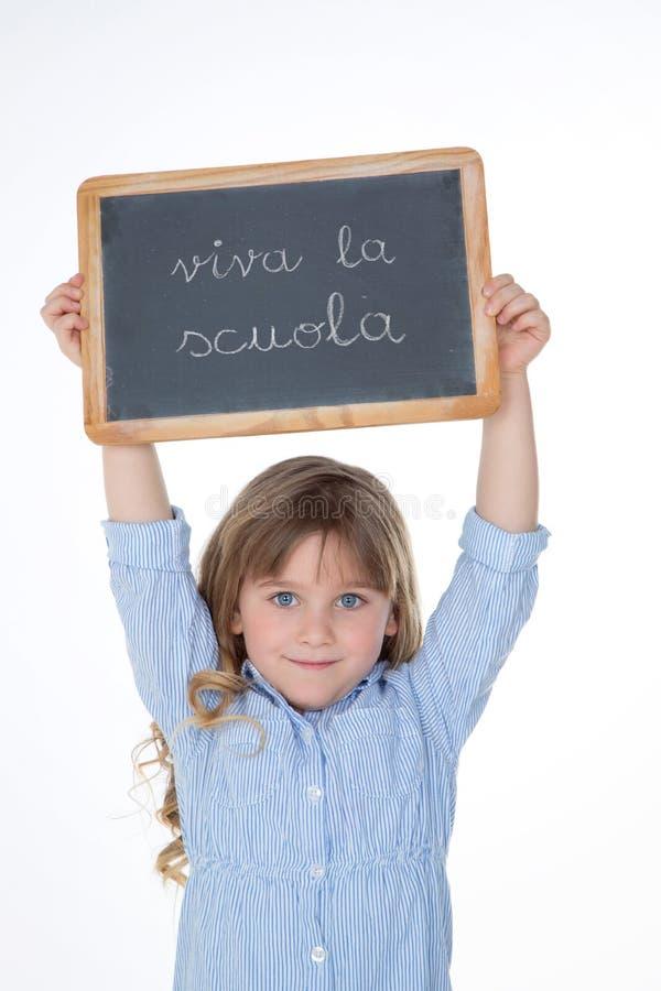 Porträt des blonden italienischen Mädchens lizenzfreie stockfotos