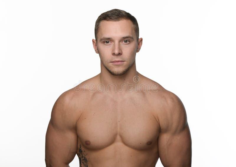 Porträt des Bodybuilders lizenzfreie stockbilder