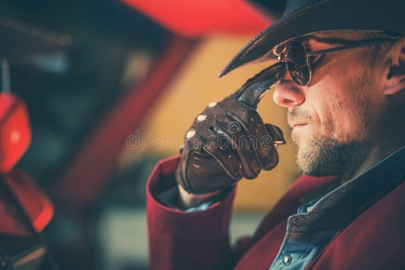 Porträt des Cowboys stockfotos