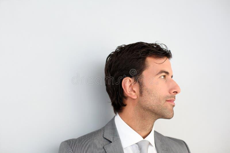 Porträt des Geschäftsmannes lokalisiert lizenzfreies stockfoto