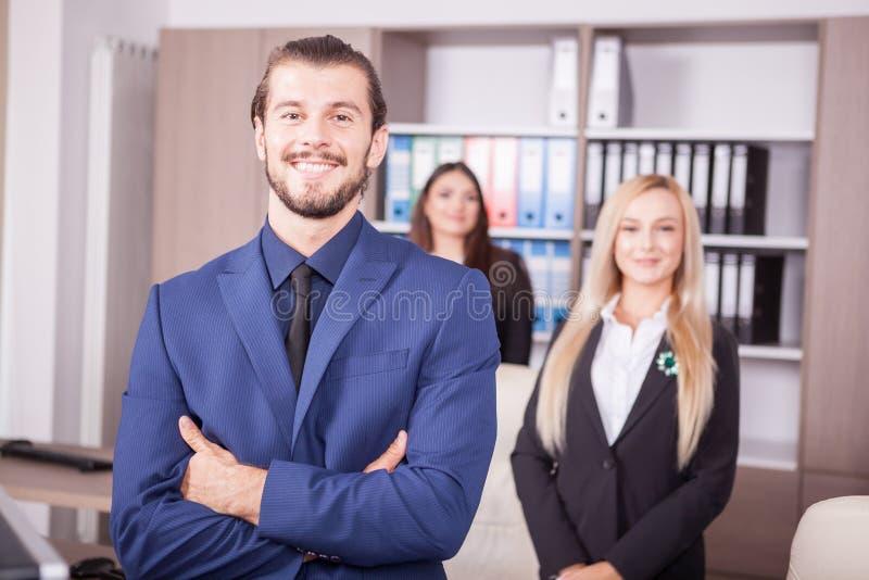 Porträt des Geschäftspersonenteams lizenzfreies stockbild