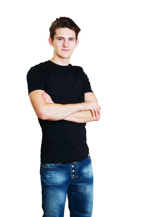 Porträt des glücklichen Hochschulstudenten lizenzfreie stockbilder