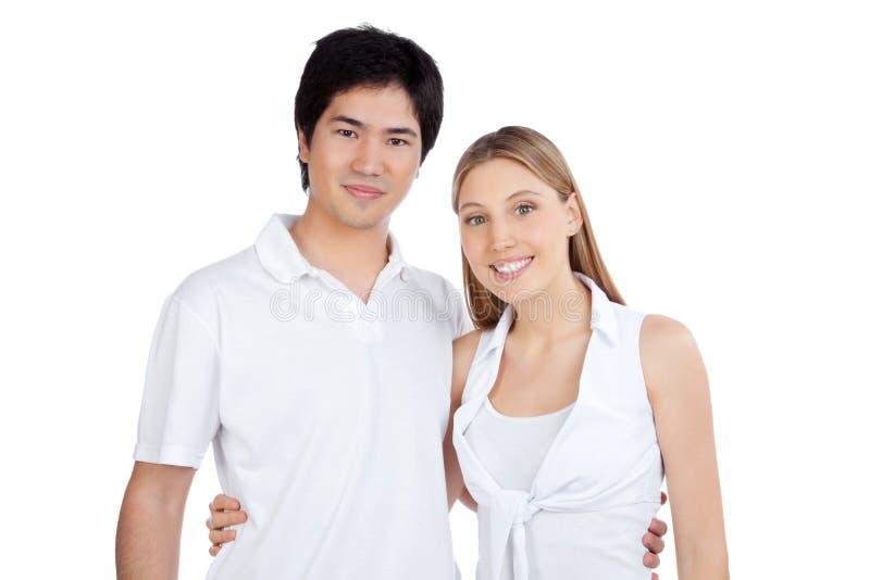 Porträt des glücklichen Paars lizenzfreies stockfoto