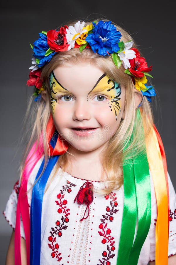 Porträt des hübschen Mädchens stockbild