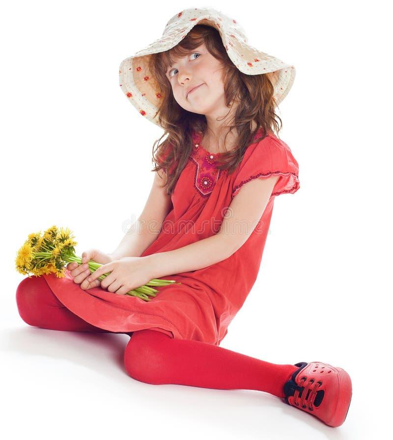 Porträt des hübschen und glücklichen Mädchens stockfotografie