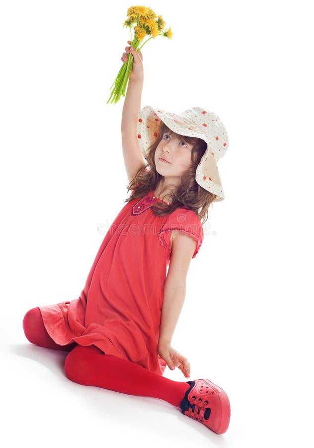 Porträt des hübschen und glücklichen Mädchens stockbild