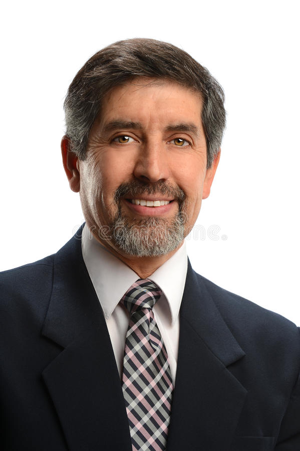 Porträt des hispanischen Geschäftsmannes lizenzfreie stockbilder