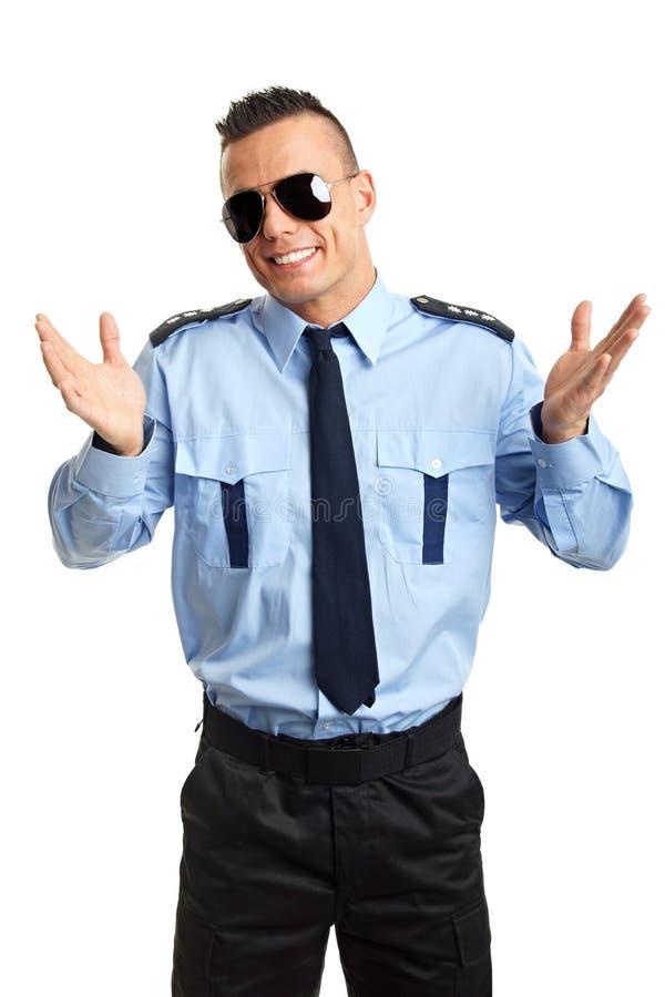 Porträt des jungen Polizisten stockfotografie