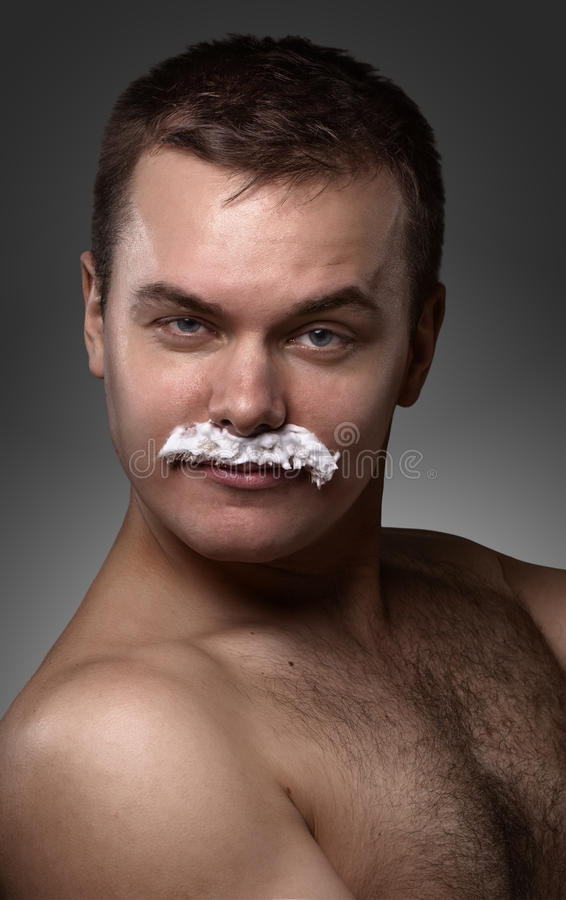 Porträt des jungen sexy Mannes stockfotos