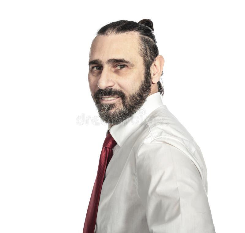 Porträt des kaukasischen Geschäftsmannes stockfotografie