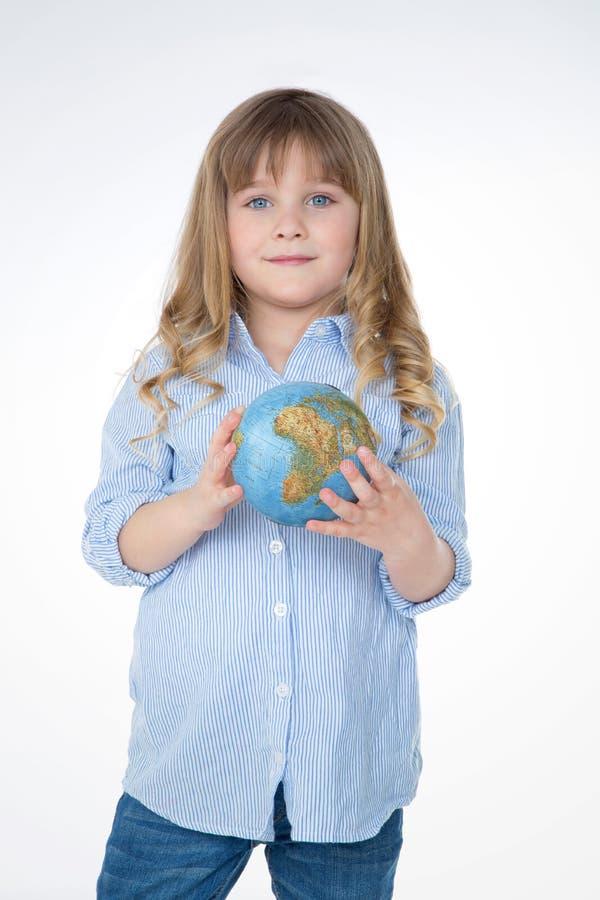 Porträt des kleinen und hübschen Kindes stockbilder
